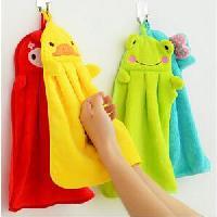 糖果色超柔珊瑚絨卡通毛巾/可掛面巾擦手巾