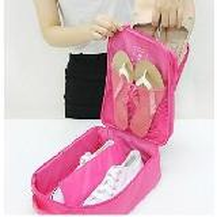 韓版多功能旅行鞋類整理 立式三位鞋袋
