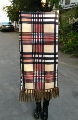 仿羊絨大格子圍巾/保暖圍巾