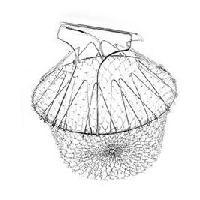 304不鏽鋼伸縮煮食籃/油炸籃