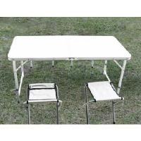 加强版折叠式铝金属工作台/椅(一桌四椅)(有伞洞/无伞洞)