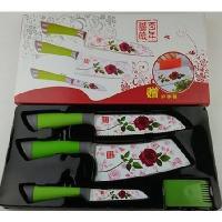 百年薔薇刀四件套廚房套刀