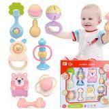 嬰幼兒玩具手搖鈴8件套裝