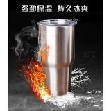 雙層真空水漲式冰爆杯 900ml(滑蓋)/燜燒杯兩用