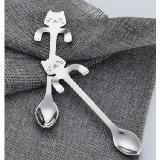 貓咪手柄可掛式304不銹鋼攪拌湯匙