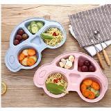 兒童餐盤可愛卡通汽車造型分格盤