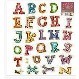 創意螢光夜光英文字母DIY壁貼