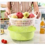 多功能瀝水籃雙層洗菜盆