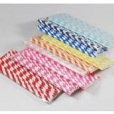 彩色紙質環保紙吸管口徑6MM(25支/包)