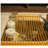 廚房置物架水槽瀝水架折疊收納架