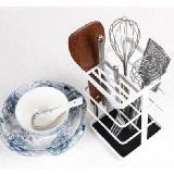 多功能刀座碗筷收納架瀝水置物架