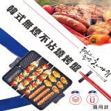 烤煎炒免油-韓式無煙不沾燒烤盤高聚能版(電磁爐/明火通用款)