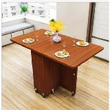 變形金剛伸縮折疊可移動餐桌(140*80*77cm,1.6cm厚)