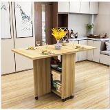 變形金剛伸縮折疊可移動餐桌(140*80*77cm,2.5cm厚)