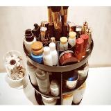 旋轉化妝品收納盒置物架(透明黑白灰)