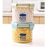 加厚透明密封儲物罐收納盒(600ml)