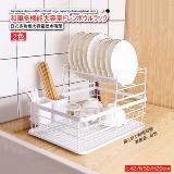 日式多功能置物架大容量瀝水碗架(雙層)