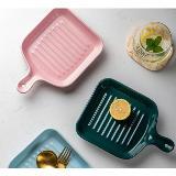 創意陶瓷單柄烤盤沙拉盤