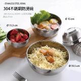 內304不銹鋼雙層隔熱加厚鉑金碗(20cm)