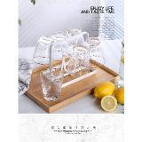瀝水置物架手提杯架日式鐵藝水杯掛架多功能客廳廚房杯具收納托盤