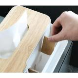 原木蓋紙巾盒