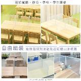 多用途DIY防飛沫隔板(白,一板二扣)