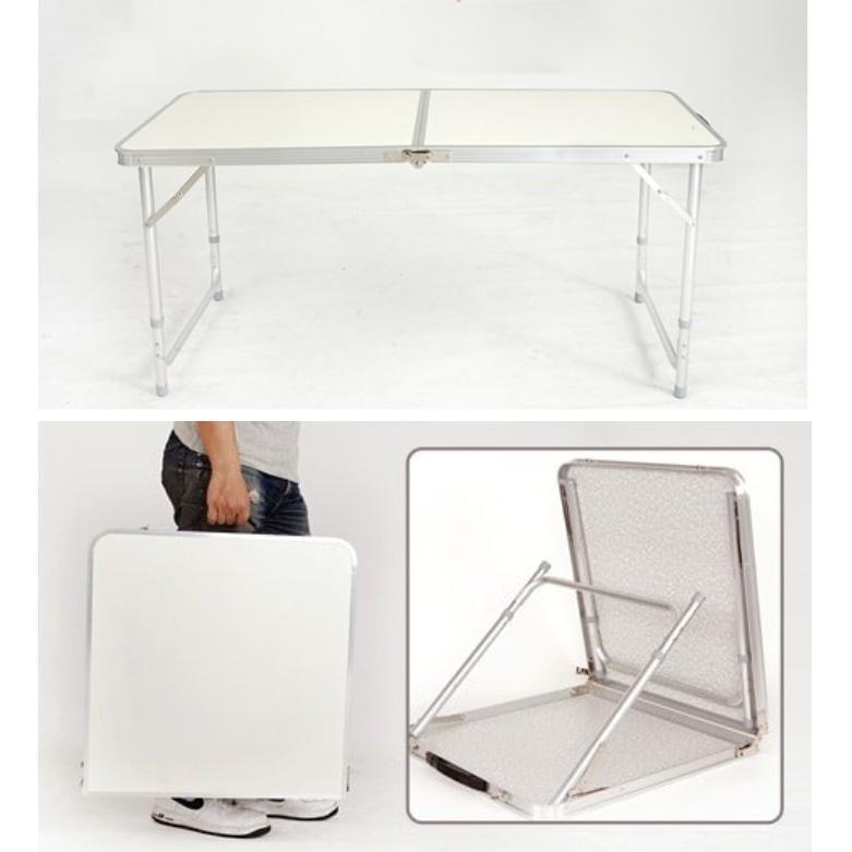 折疊式鋁金屬工作檯桌(有傘洞/無傘洞)