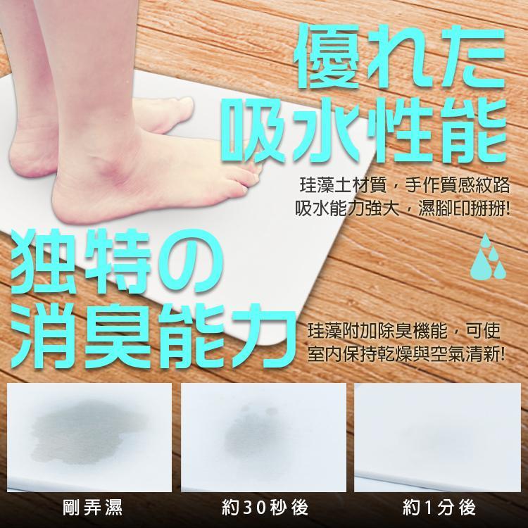 獨家代理日本PPT升級版超吸濕硅藻土地墊(60*39*0.9)
